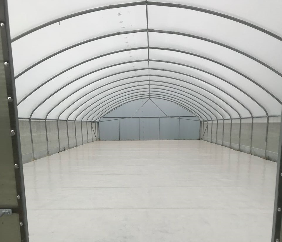 Waterbased epoxy topcoat used in Specart greenhouse